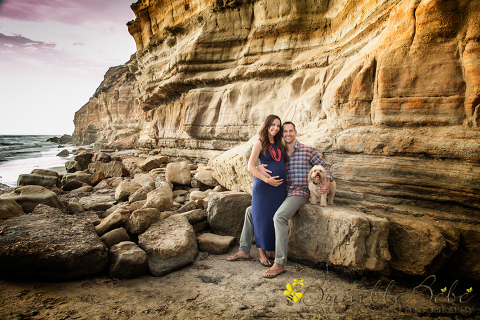 Kristin-Brian-Maternity portrait at Del Mar Beach CA