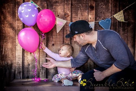 photos from baby Riley's one year portrait session