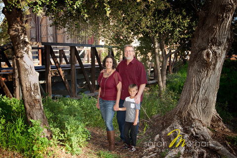 Gall Family Portrait in Old Poway Park