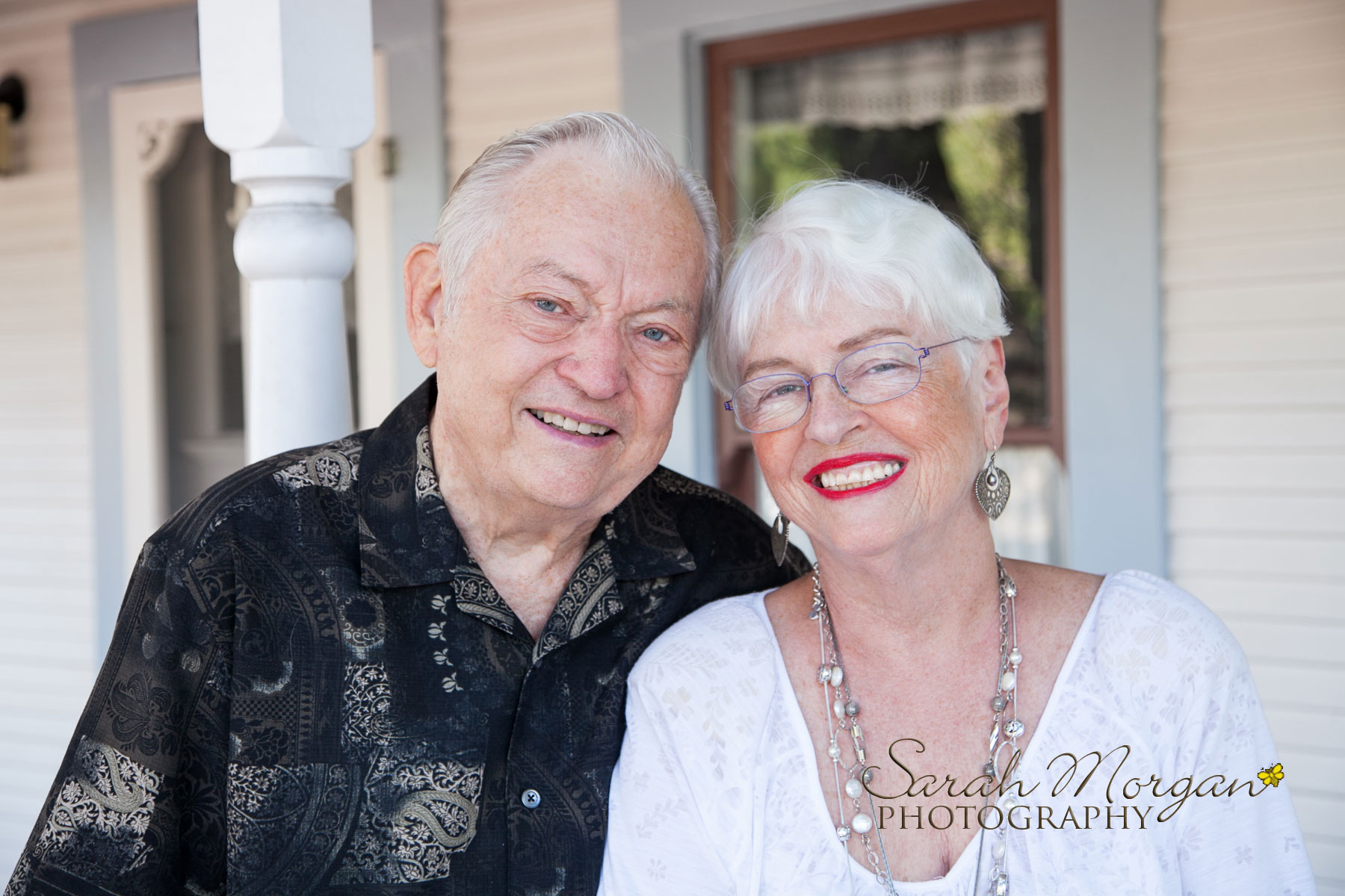 Mom and Dad portrait in Old Poway Park