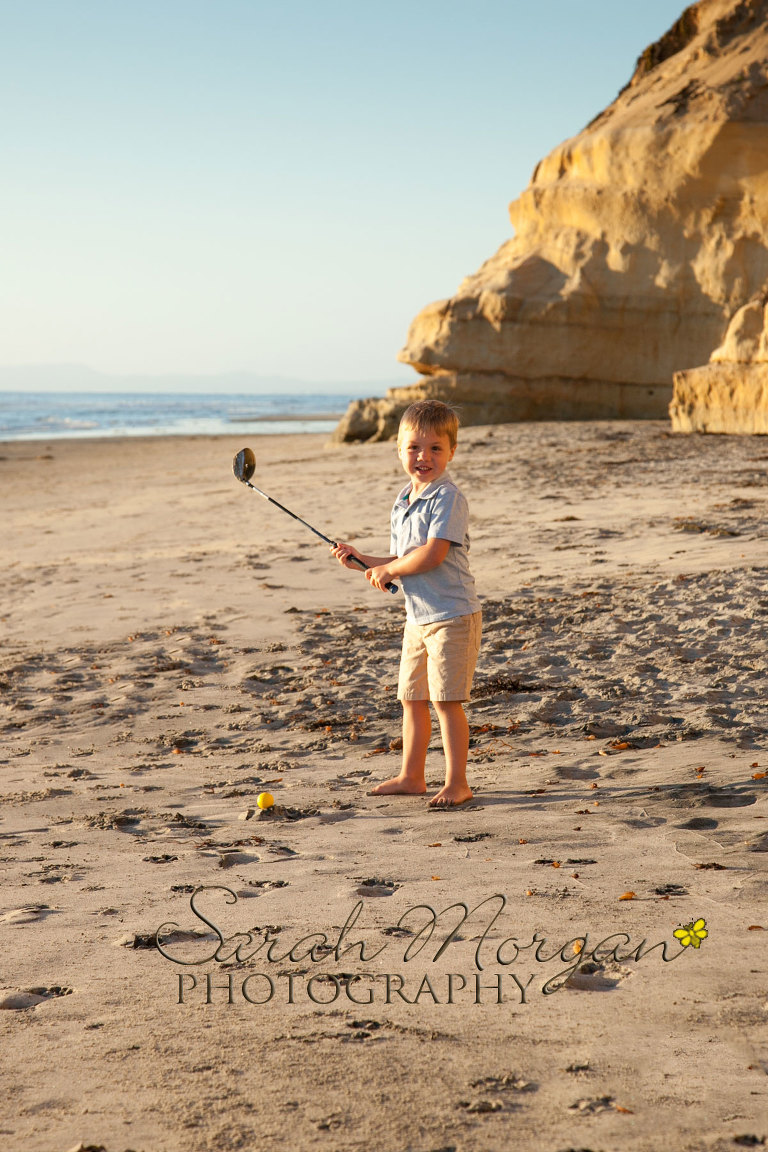 Family fun during beach portraits