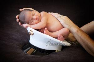 Military newborn baby photo