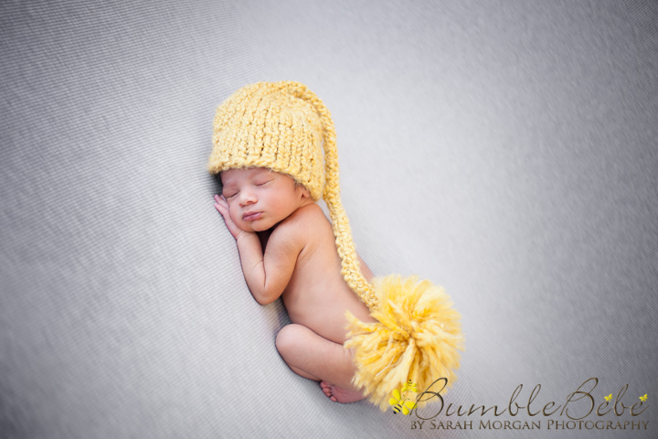 Baby Kabir in our yellow hat