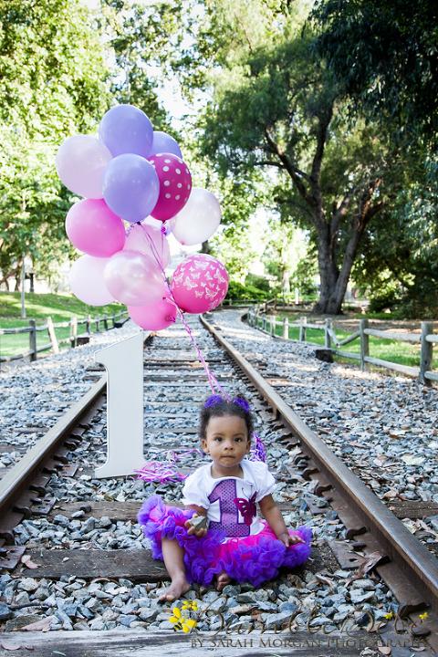 Baby Maxwelle's first birthday portrait