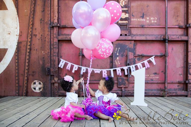 Twin girls first birthday