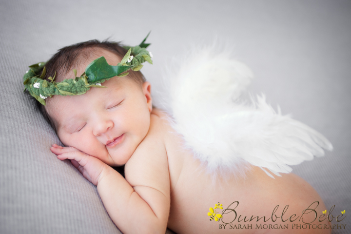 Baby Cassidy in our angle wings