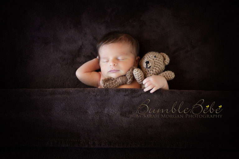 Baby Lincoln with teddy bear