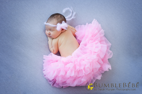 Tiny Baby Hannah in Pink Tutu