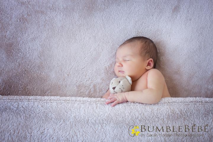 Sweet baby Hannah and teddy bear