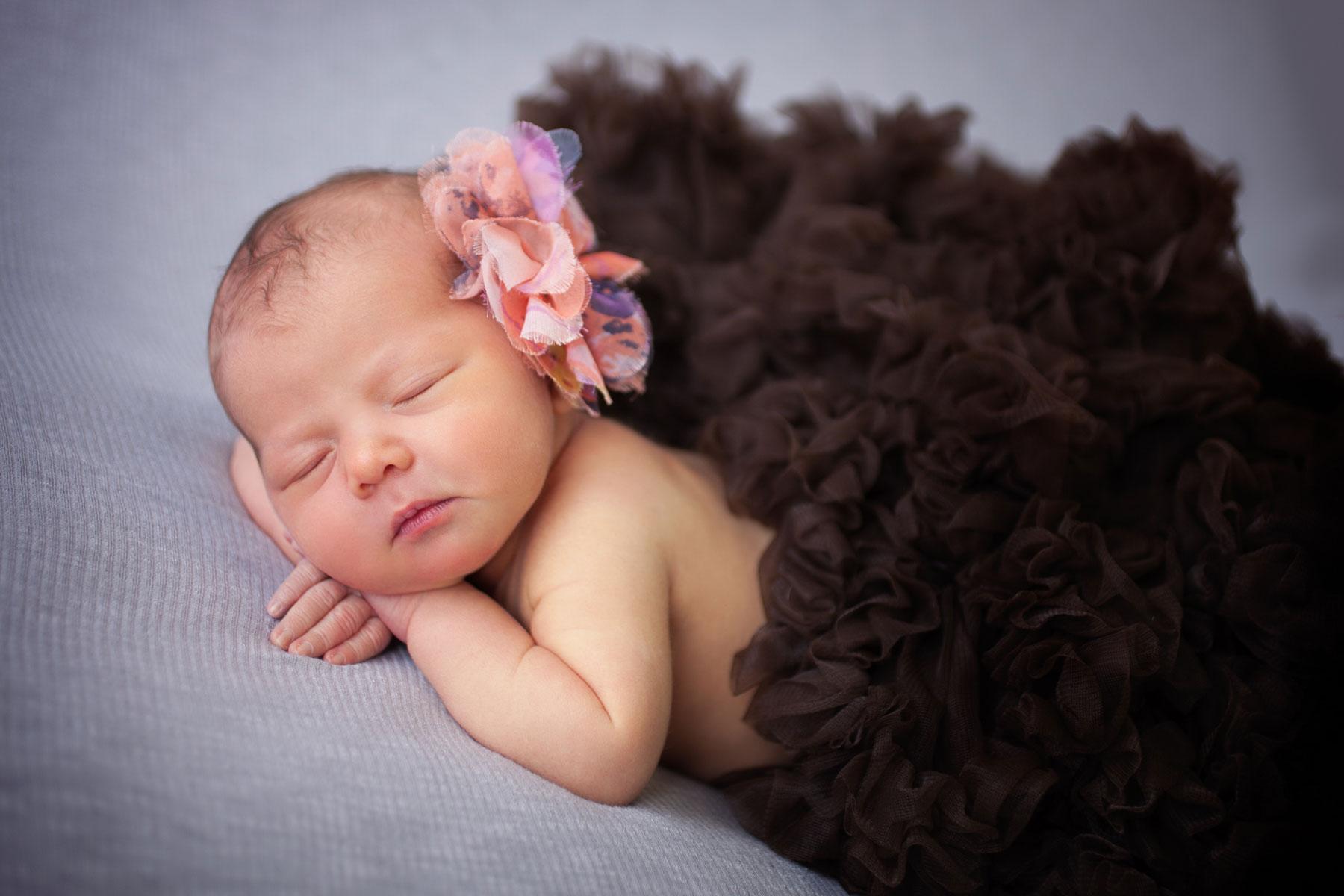 Johnson baby in brown tutu