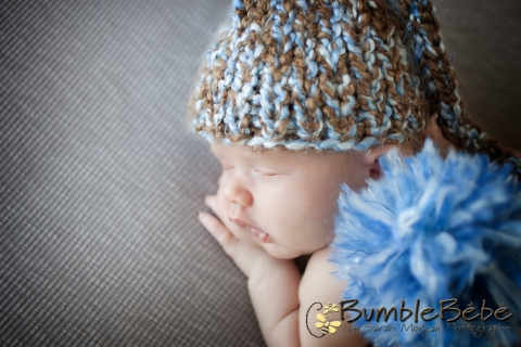 This is such a sweet image of baby Caleb in our Blue Hat