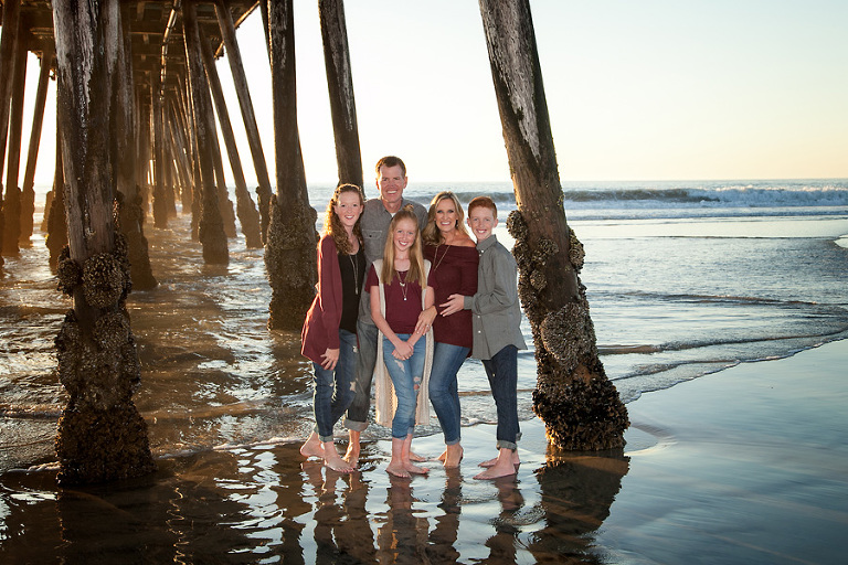 Shields family portrait ocean beach ca