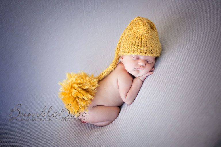 Baby Sterling in yellow hat